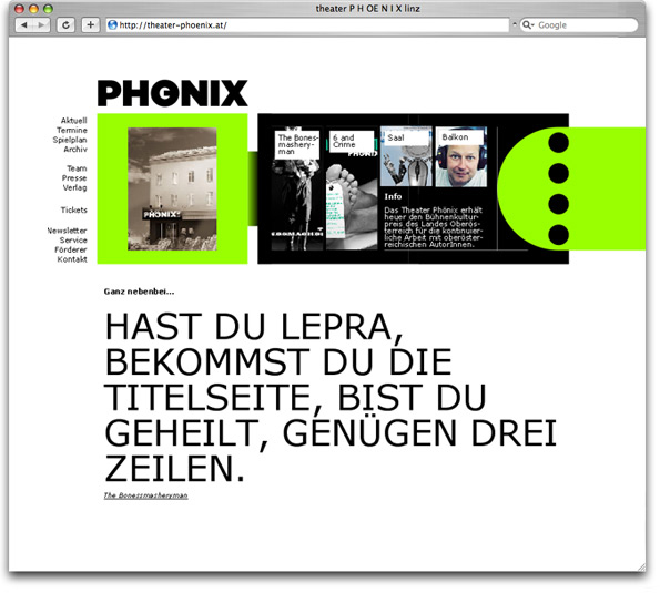 Theater-Phönix Start